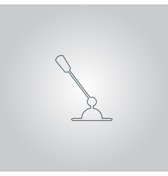PC Microphone Single flat icon vector