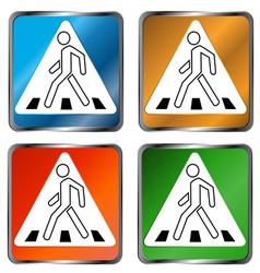 Pedestrian crossing signs vector image