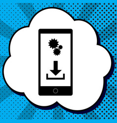 phone settings download and install apps vector image