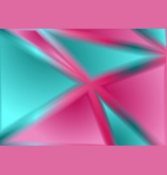 Pink and cyan tech geometric holographic triangles vector