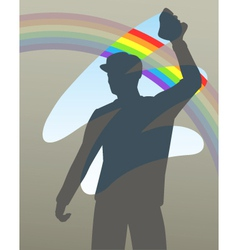 Rainbow wipe vector