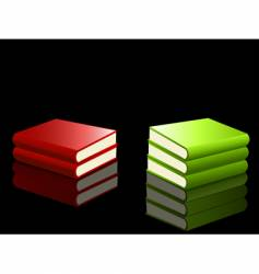 reflected books vector image