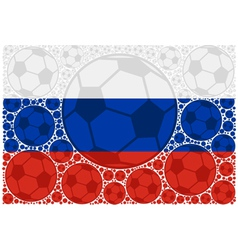 Russia soccer balls vector image