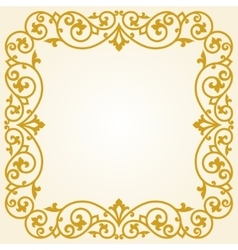 Russian traditional carving ornament vector image