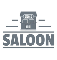 saloon logo vintage style vector image