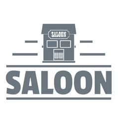saloon logo vintage style vector image