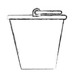 sand bucket isolated icon vector image