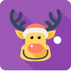 Santas reindeer Face icon flat design vector
