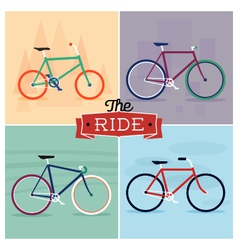 Set of bicycle designs vector
