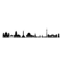 skyline berlin city varius landmarks vector image