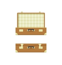 Suitcase open and closed vector image