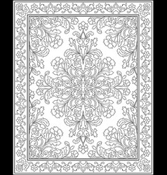template for carpet vector image