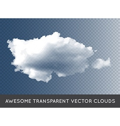 Transparent Clouds can be used with any background vector image