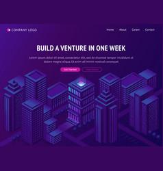 venture business company building service landing vector image