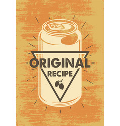 vintage beer poster vector image