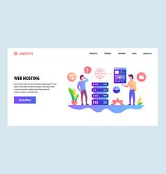web site design template hosting vector image