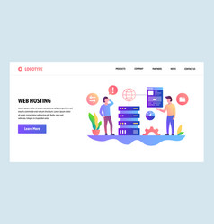 Web site design template web hosting and vector