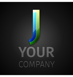 abstract logo letter J vector image