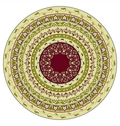 circles floral pattern indian style vector image
