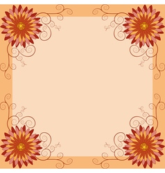 Floral vintage background invitation greeting card vector image vector image