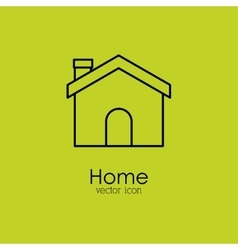 home isolated icon design vector image vector image