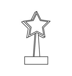 star trophy win prize outline vector image