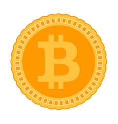 bitcoin icon crypto coin vector image