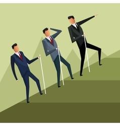 business men team climb growth vector image vector image