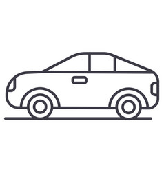 car vehicle automobile line icon sign vector image vector image