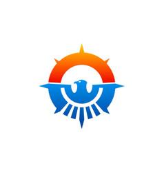 Eagle abstract emblem icon logo vector