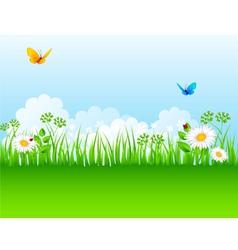 grass backgrnd vector image