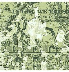 Grunge Dollar Bill vector image