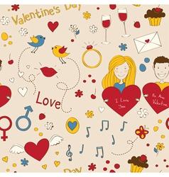 Romantic seamless vector image vector image