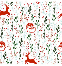 seamless pattern with christmas motif vector image vector image