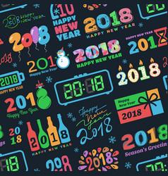 2018 new year calendar christmass logo text vector image