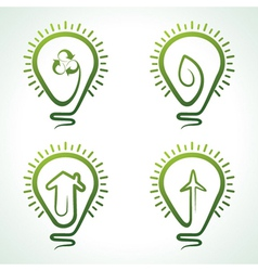 Bulb with eco concept vector image