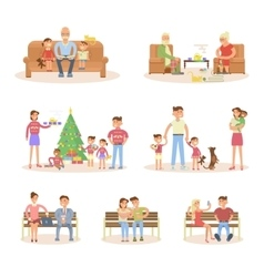 Different types of married couple set vector image vector image