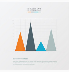 Graph and infographic design orange blue vector