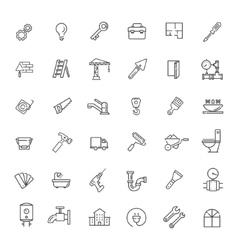 Icons set - construction home repair tools vector