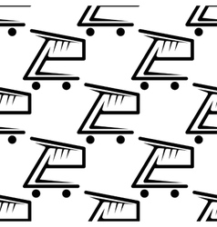 Seamless background pattern of shopping carts vector image vector image