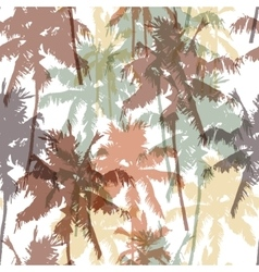 Seamless pattern with palm trees vector image vector image