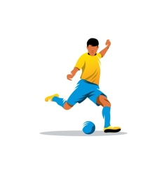 Soccer player sign vector image vector image