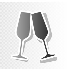 sparkling champagne glasses new year vector image vector image