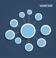 background flat design vector image