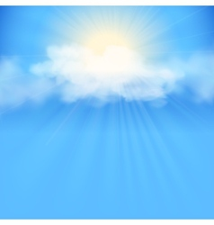 Blue sky abstract background vector image vector image