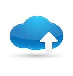 Cloud Computing Upload Icon vector image vector image