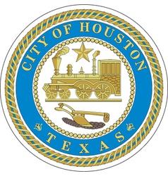 Houston city seal vector image vector image