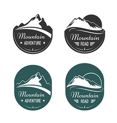 Mountain labels vector image