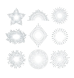 Retro sunburst radiant starburst vintage vector image