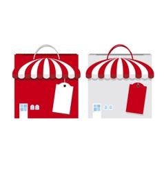 shopping bag design on white background vector image vector image